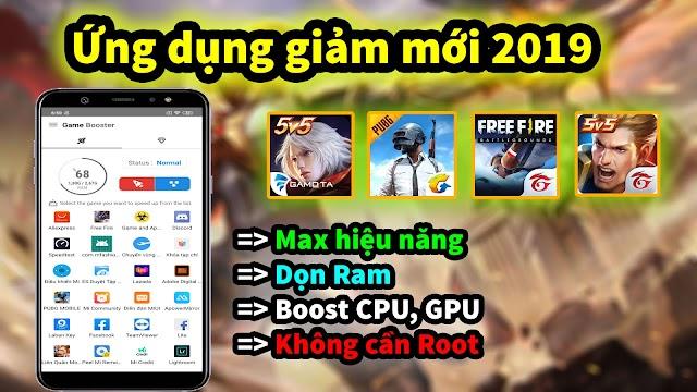 ỨNG DỤNG GIẢM LAG GAME 2019 MỚI NHẤT FIX LAG LIÊN QUÂN, FREE FIRE, PUBG MOBILE