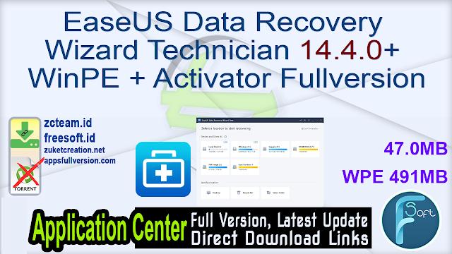 EaseUS Data Recovery Wizard Technician 14.4.0 + WinPE + Activator Fullversion