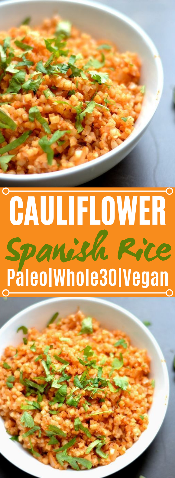 Cauliflower Spanish Rice #healthy #paleo