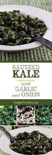 Sauteed Kale with Garlic and Onion found on KalynsKitchen.com