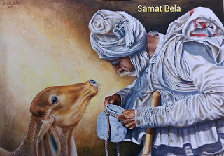 Picture article raised identity in the world. Named Samat Bela from Jamkalyanpur