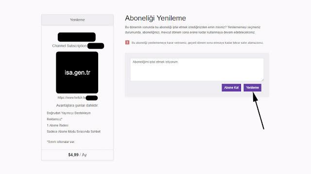 twitch aboneliği yenileme
