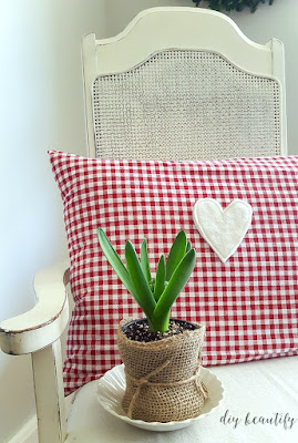 spring bulbs and Valentines