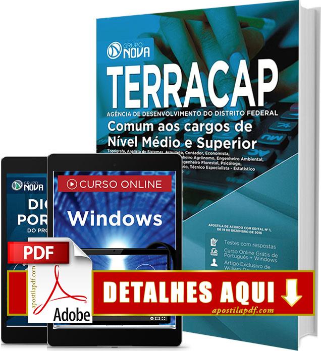 Apostila TERRACAP 2017 PDF Impressa Cargos de Nível Médio e Superior