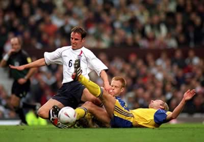 Gareth Southgate playing for England