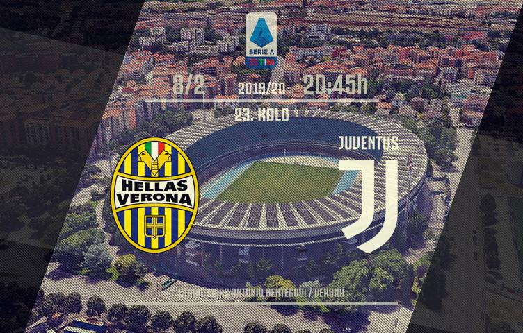 Serie A 2019/20 / 23. kolo / Verona - Juventus, subota, 20:45h