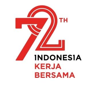 Macam Aplikasi Larangan Jenis Huruf Logo Hut 72 Ri 2017