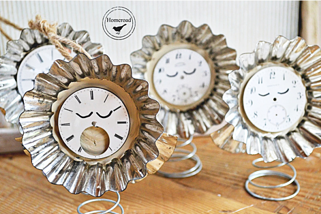 angel ornaments with clock faces