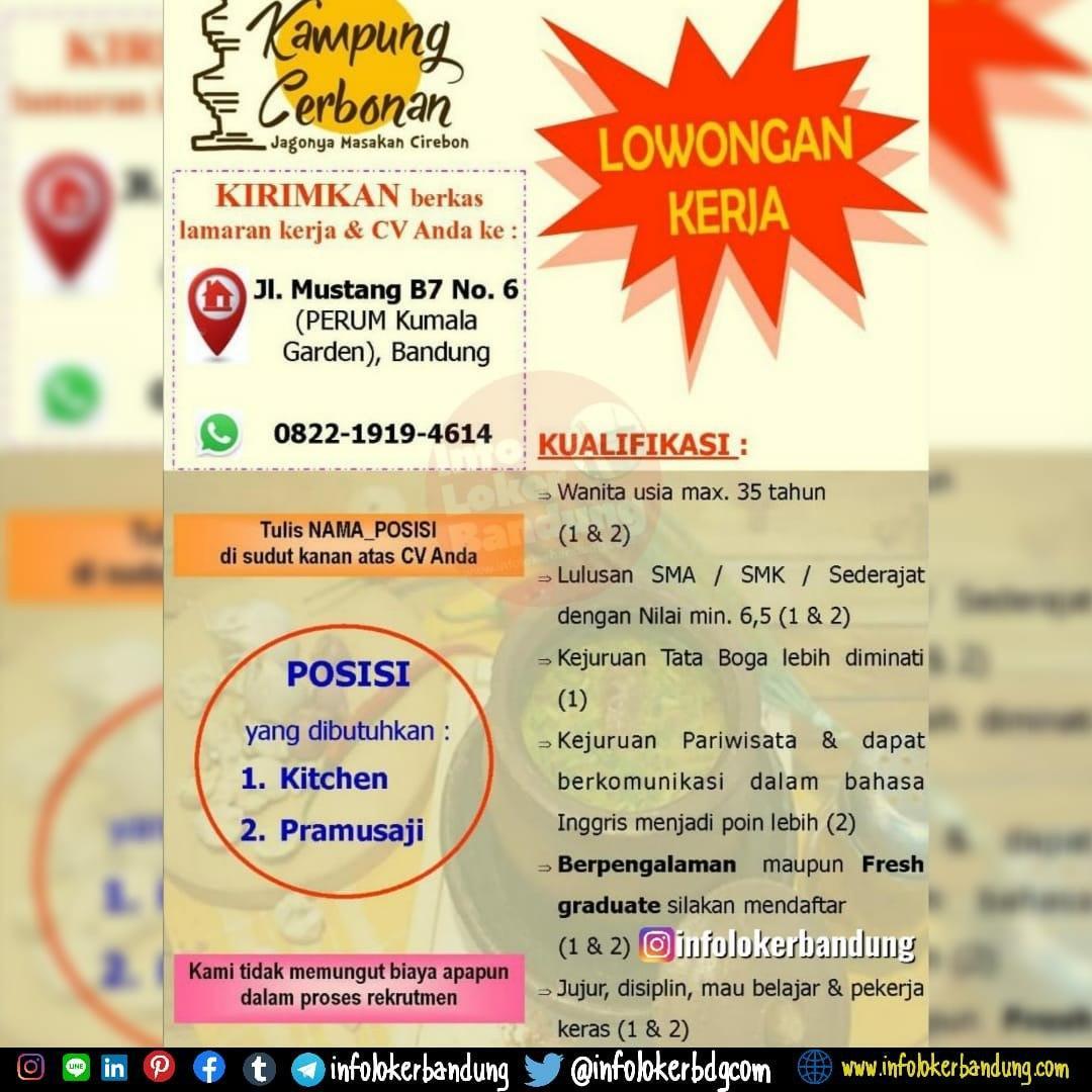 Lowongan Kerja Kampung Cerbonan Bandung Maret 2020