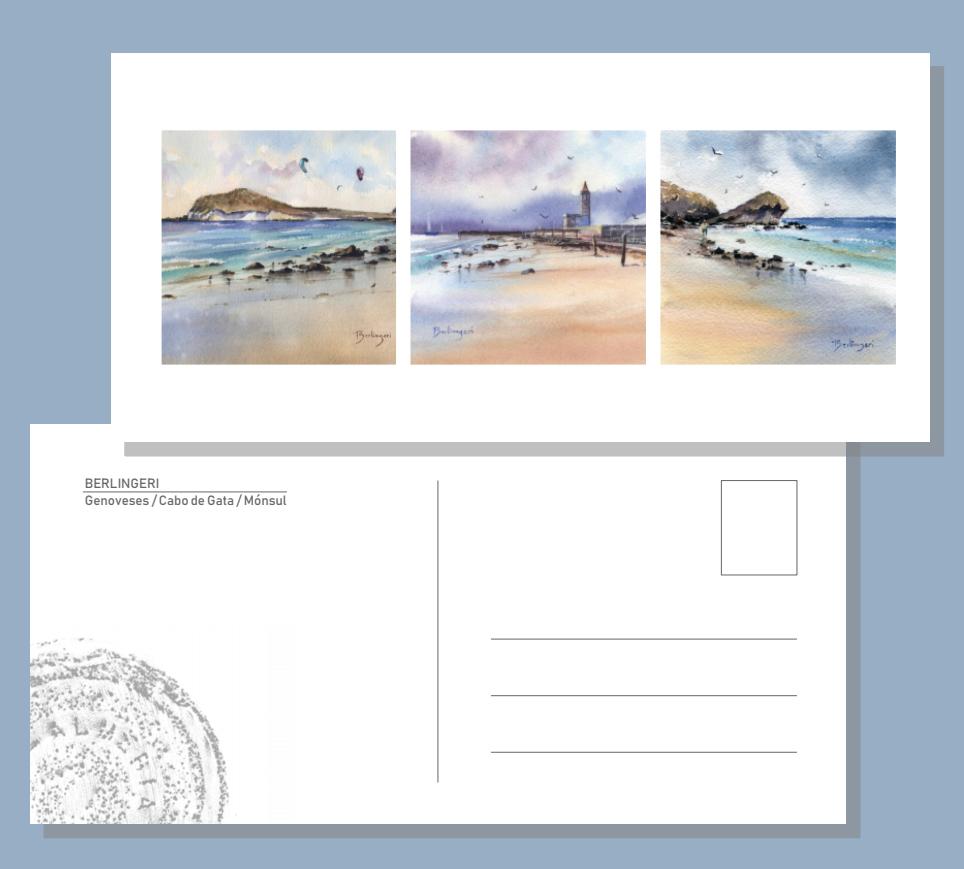 Postal playas: Genoveses/Cabo de Gata/ Mónsul