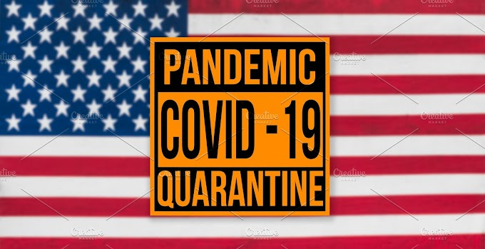 Pandemic sign warning of quarantine