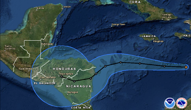 Surge la Depresión Tropical 29; sería huracán #Eta categoría 1 el lunes al medio día