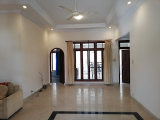 Ruang Tamu Rumah Second Murah FULLY FURNISHED, kondisi cantik, mulus, terawat di Tasbi 1 Medan