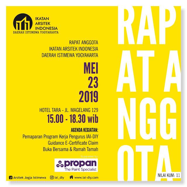 [SERTIFIKAT] Rapat Anggota 23 Mei 2019 Hotel Tara Yogyakarta