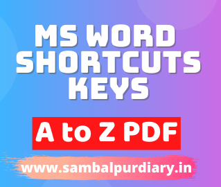 MS Word Keyboard Shortcuts A to Z With PDF File