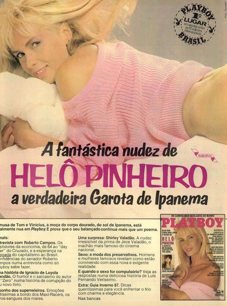 Revista Playboy da Helô Pinheiro em 1987. Campanha da revista para promover a atração.