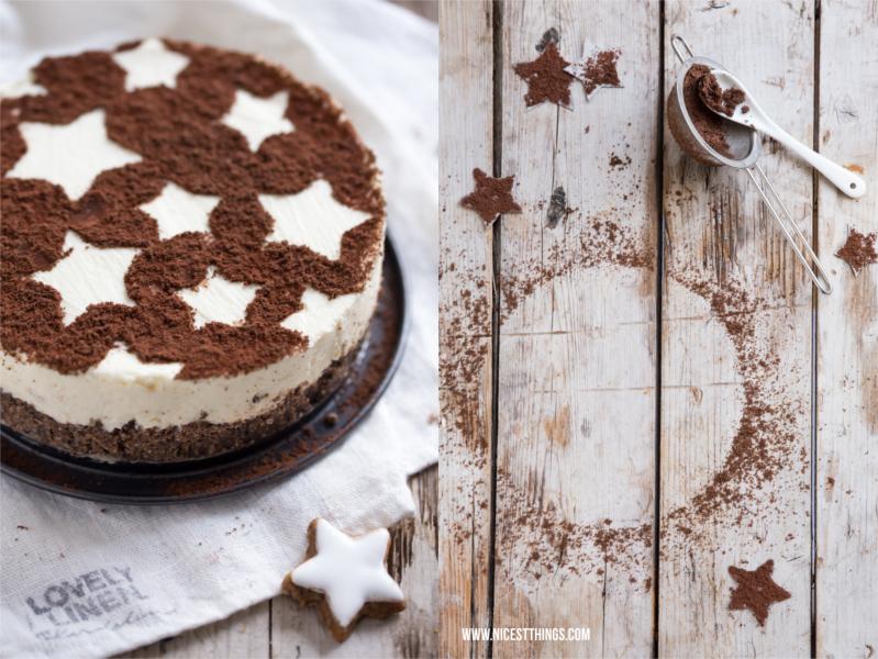 Zimtstern Cheesecake Zimt Käsekuchen Weihnachten Schablone Kakao Sterne
