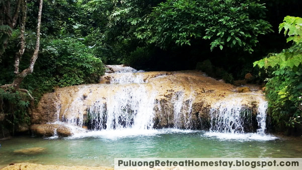 Hieu Waterfall in Pu Luong Nature Reserve