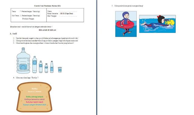 Soal PH Kelas 3 SD/MI: Tema 7