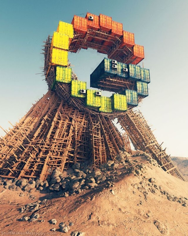 Artist Turns Famous Brands into Post-Apocalyptic Buildings