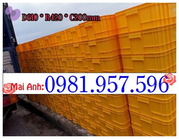 Hộp nhựa 40L có nắp, hộp nhựa công nghiệp 40L, thùng nhựa 2T