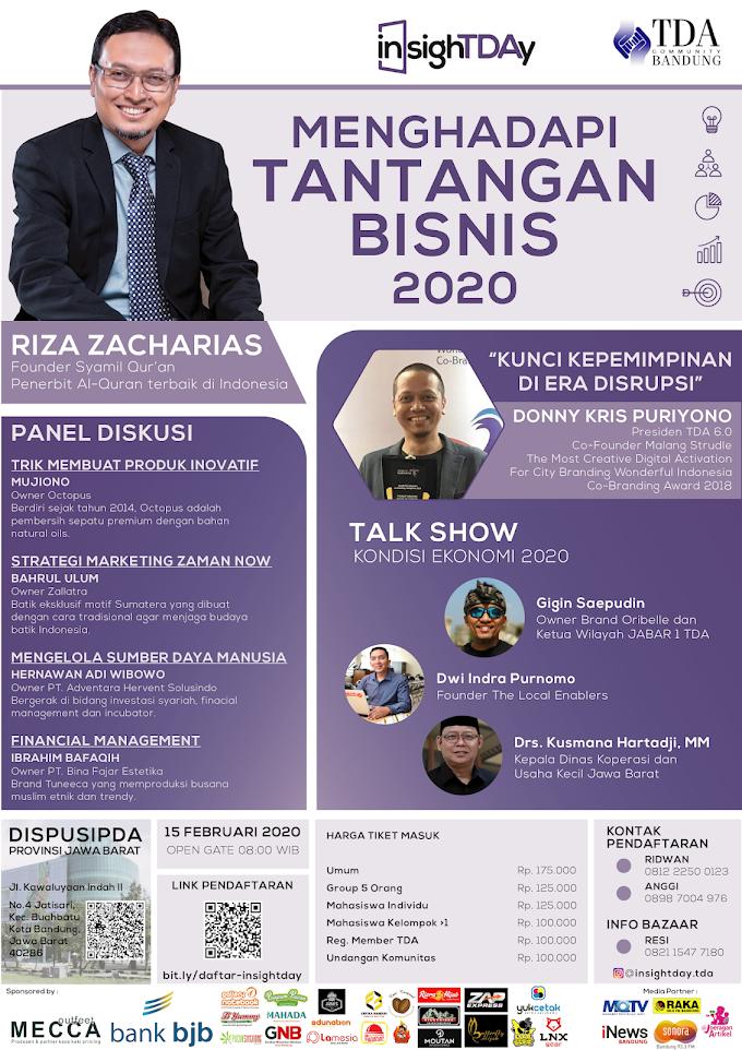 Diskusi Cara Menghadapi Tantangan Bisnis 2020 di Acara InsighTDAy