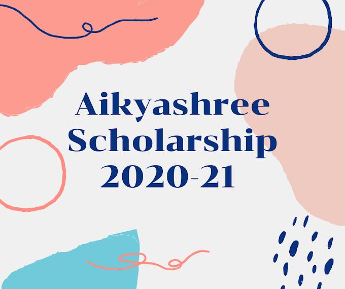 aikyashree scholarship 2020-21: @wbmdfc.org