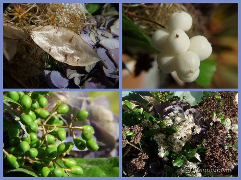 Herbstkranz aus Naturmaterialien