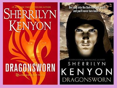portadas de la novela romántica paranormal El juramento del dragón, de Sherrilyn Kenyon