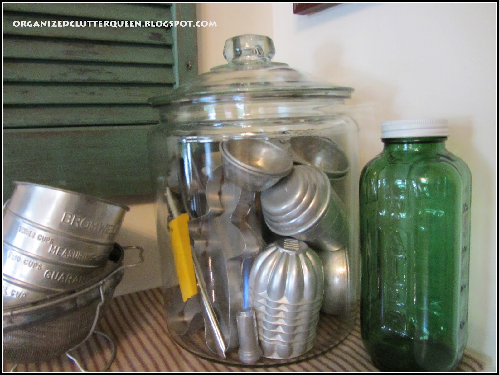A New Vintage Kitchen Vignette Organized Clutter