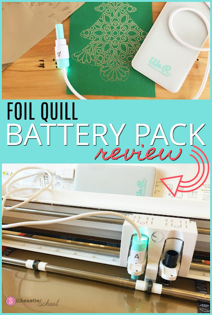 silhouette 101, silhouette america blog, foil quil, foil quill silhouette, foil quill battery pack