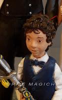 statuetta bambino per torta matrimonio calke topper con figli sposi bimbo orme magiche