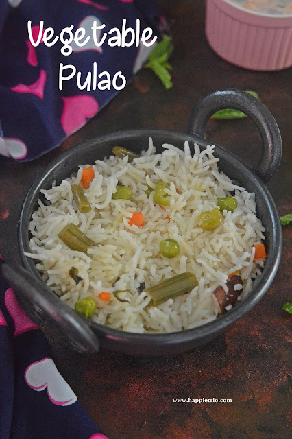 Vegetable Pulao | Vegetable Pulao in Pressure Cooker | Easy One Pot Meal