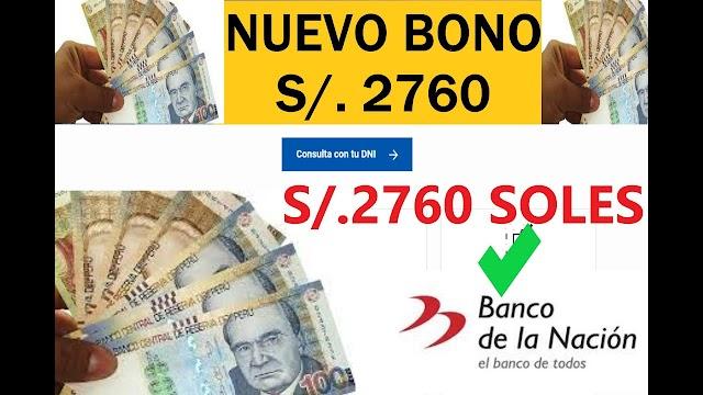 Bono de 2760 Soles: Sector público