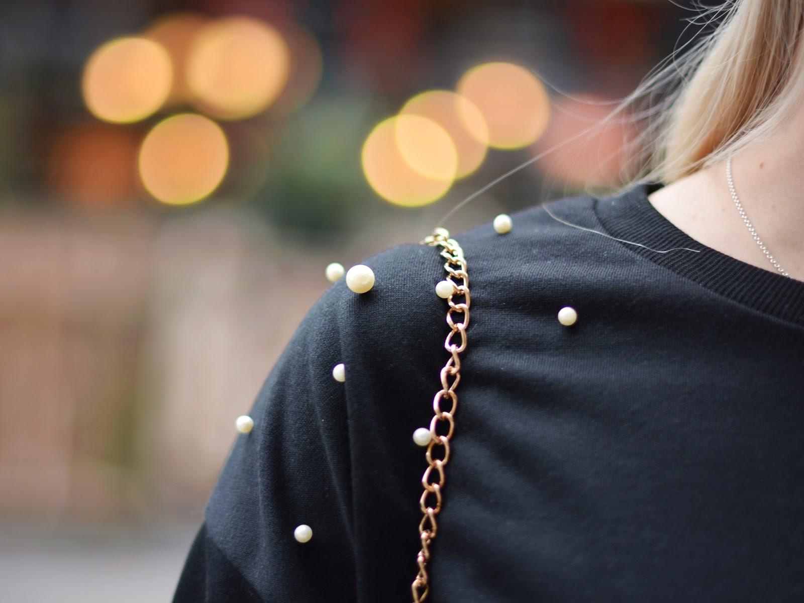 ubrania perły stylizacje