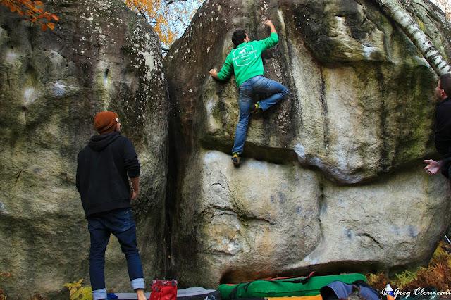 Le mouvement clé de l'Angle Incarné, 7B, Bas Cuvier, Fontainebleau