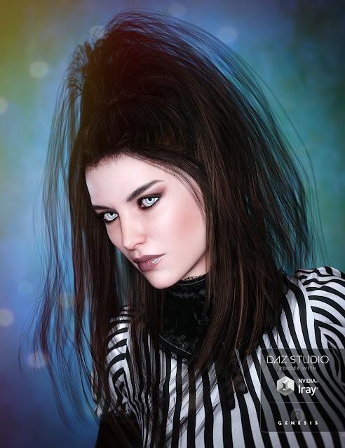 Twilight Hair for Genesis 3 Female