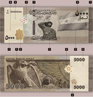 النظام يطرح ورقة نقدية جديدة من فئة 5000 ليرة ما الفوائد والاضرار المرتقبة..تفاصيل اكثر انقر هنا
