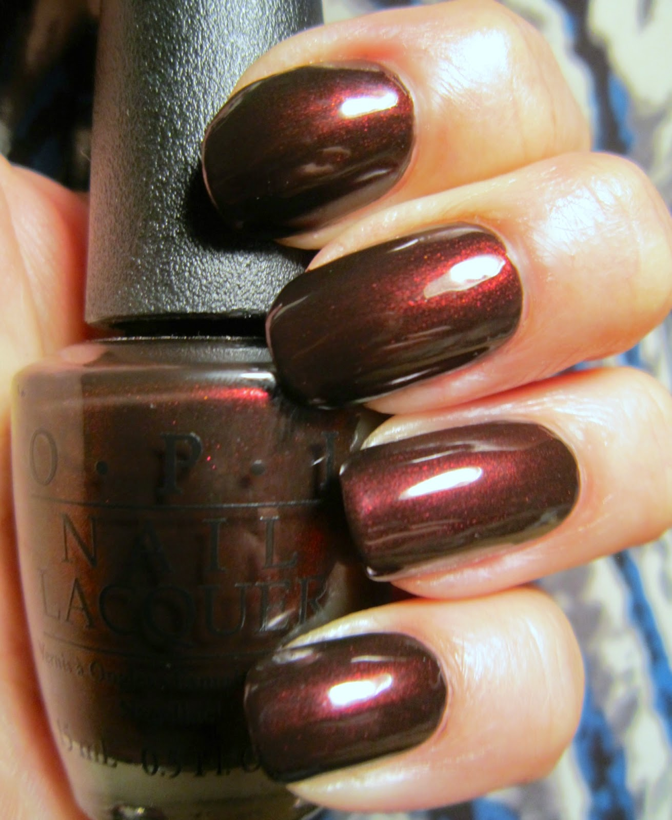 Concrete And Nail Polish Opi Midnight In Moscow