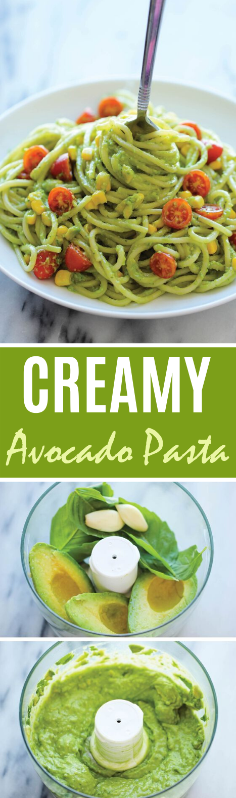 Avocado Pasta #vegan #dinner #pasta #spaghetti #meatless