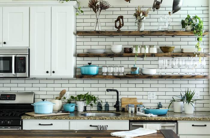 cucina con spazi ottimizzati