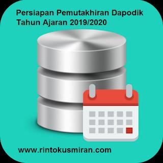 Persiapan Pemutakhiran Dapodik Tahun Ajaran 2019/2020