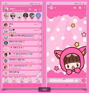 Bonequin & Star Theme For YOWhatsApp & KM WhatsApp By Agatha