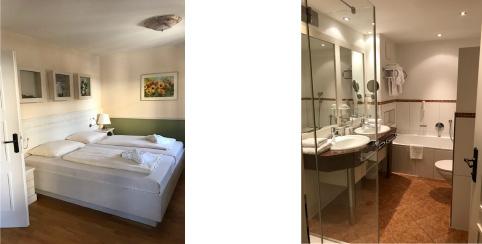 Kinderzimmer mit Zustellbett uund Sitzecke im Elternschlafzimmer im Familienhotel Hopfgarten****