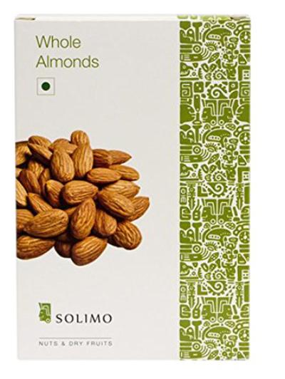 Amazon Brand - Solimo Almonds, 500g