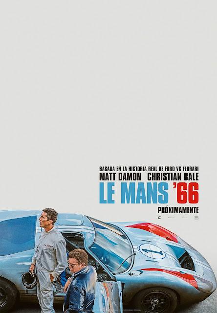 Matt Damon, Christian Bale, Le Mans 66, trailer, Póster