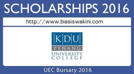 UEC Bursary 2016