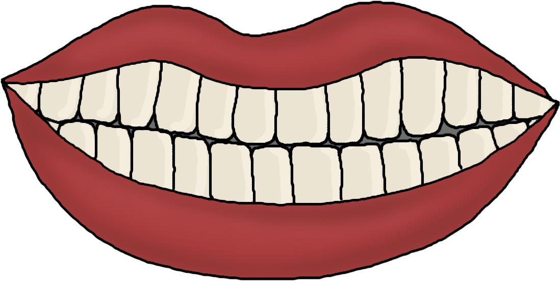 mouth template for preschool - first grade best dental health