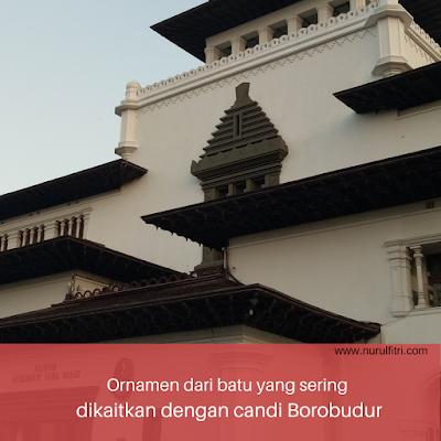 Ornamen batu di Gedung Sate sebagai cagar budaya Indonesia