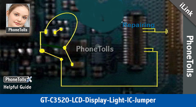 Samsung GT C-3520 LCD Display Light IC Jumper - Phonetolls